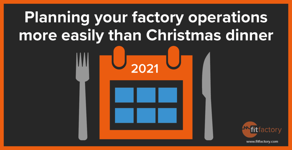 Planning your Factory more Easily than Christmas Dinner